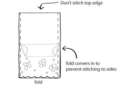 sew a bridal clutch