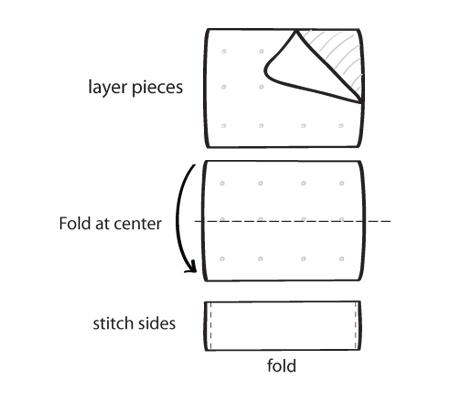 making a bridal clutch