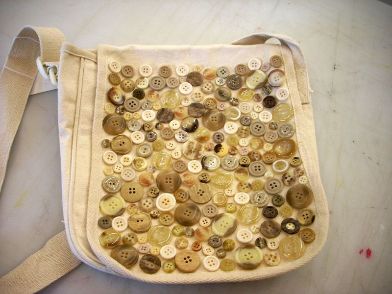 Button Embellished Messager Bag