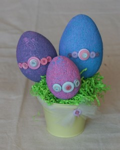 Easter Egg Crafts with Buttons- NIki Meiners