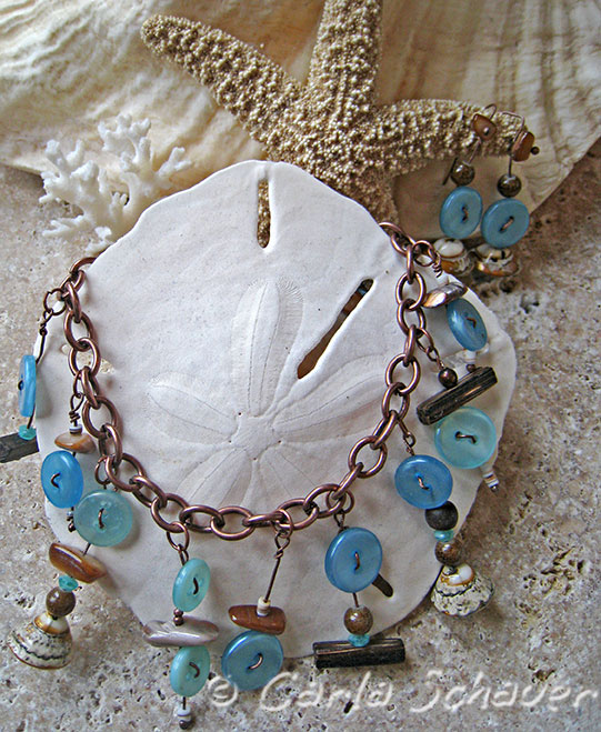 Beachy Button Bracelet Set