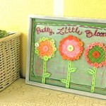 Pretty button flower wall decor