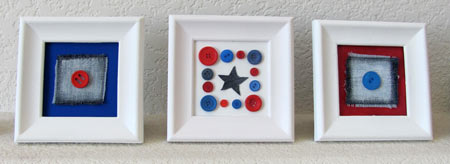 Patriotic mini art frames by Jen Goode