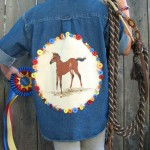 Button embellished cowgirl shirt