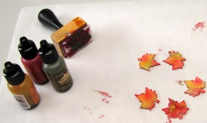 Start Ups - Maple Leaves and Alcohol Ink