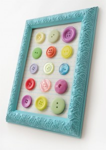 Button Art - mod podge rocks