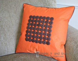 Fall Button Pillow