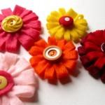 Zinnia Style Button Brooch