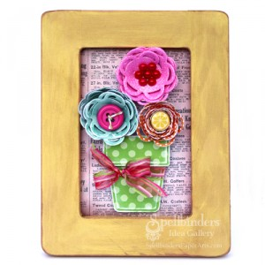 Framed Flower Art from Spellbinders