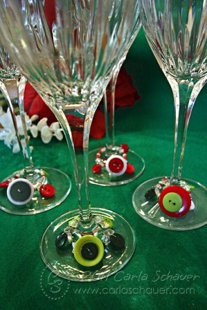 Button Wine Charms by Carla Schauer