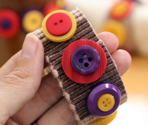 Autumn button napkin ring detail Jen Goode