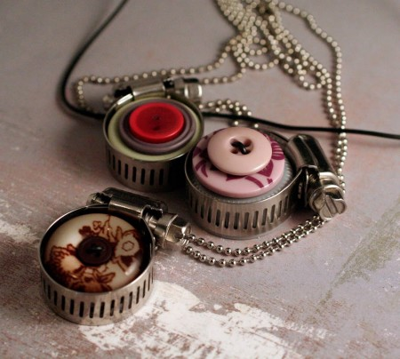 Upcycle Jewelry with Buttons and Hardware