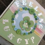 Button embellished St. Patrick's Day Keepsake box