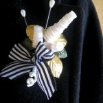 Handmade Button Boutonniere