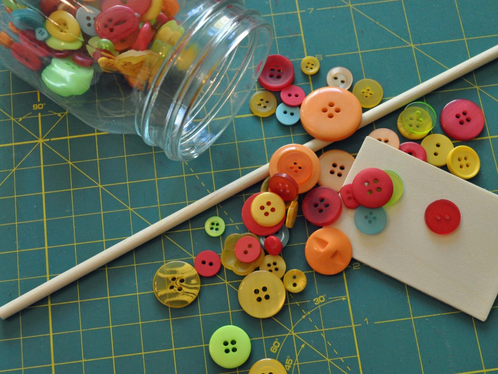 Homemade Button Garden Marker Supplies