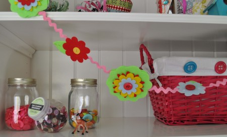 Spring Garland button art by Laura Bray