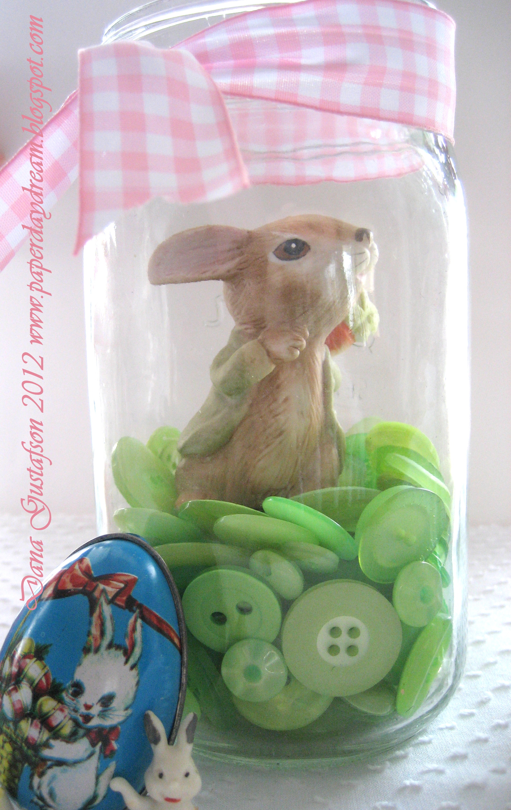 Bunny in a Button Jar