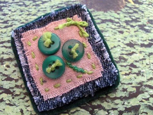 Shamrock Button Pin by Jen Goode