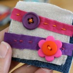 Mini button art from craft scraps and buttons