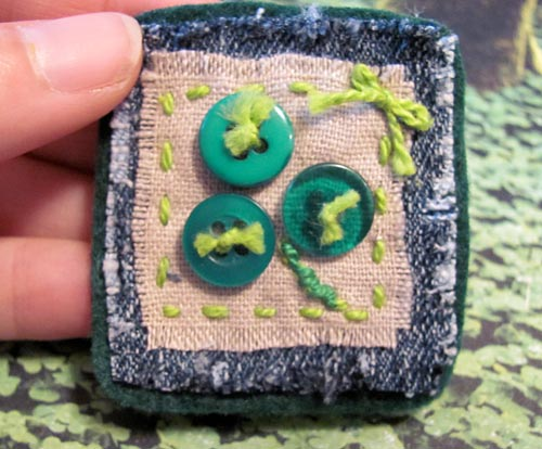 Make a fun shamrock button pin
