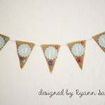 Happy- A Burlap and Button Banner