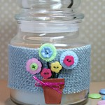 Button and Burlap Hostess Gift