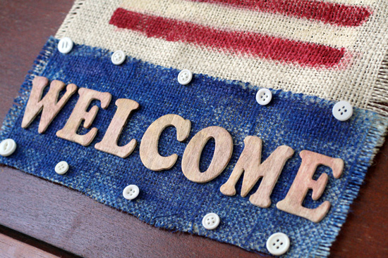 Welcome patriotic wall art