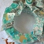 Make an Aqua & White Holiday Wreath