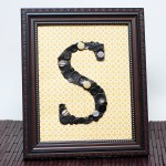 Create Personalized Monogram Home Decor using Buttons, Brads & Beads
