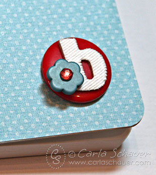 Button Monogram on Embellished Composition book