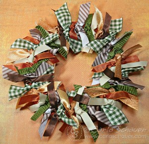 Making Tied Ribbon Wreath