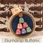 Gumdrop button ornament by Jen Goode
