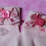 Button and Bow  - Make cute Socks with Buttons and Bows
