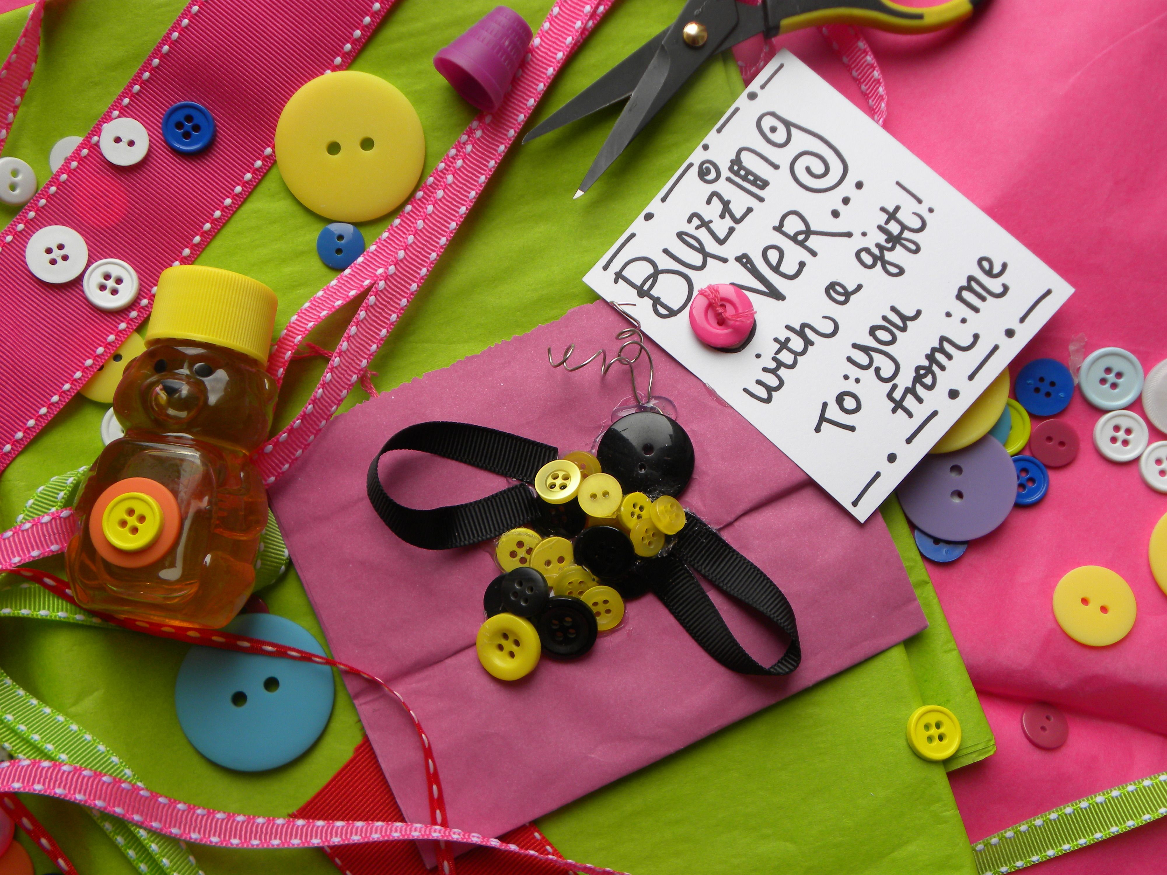 Craft bumble bee - Craft Bumble Bee Button Bumblebee
