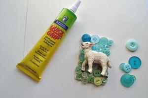 Easter Pin Glue the Lamb