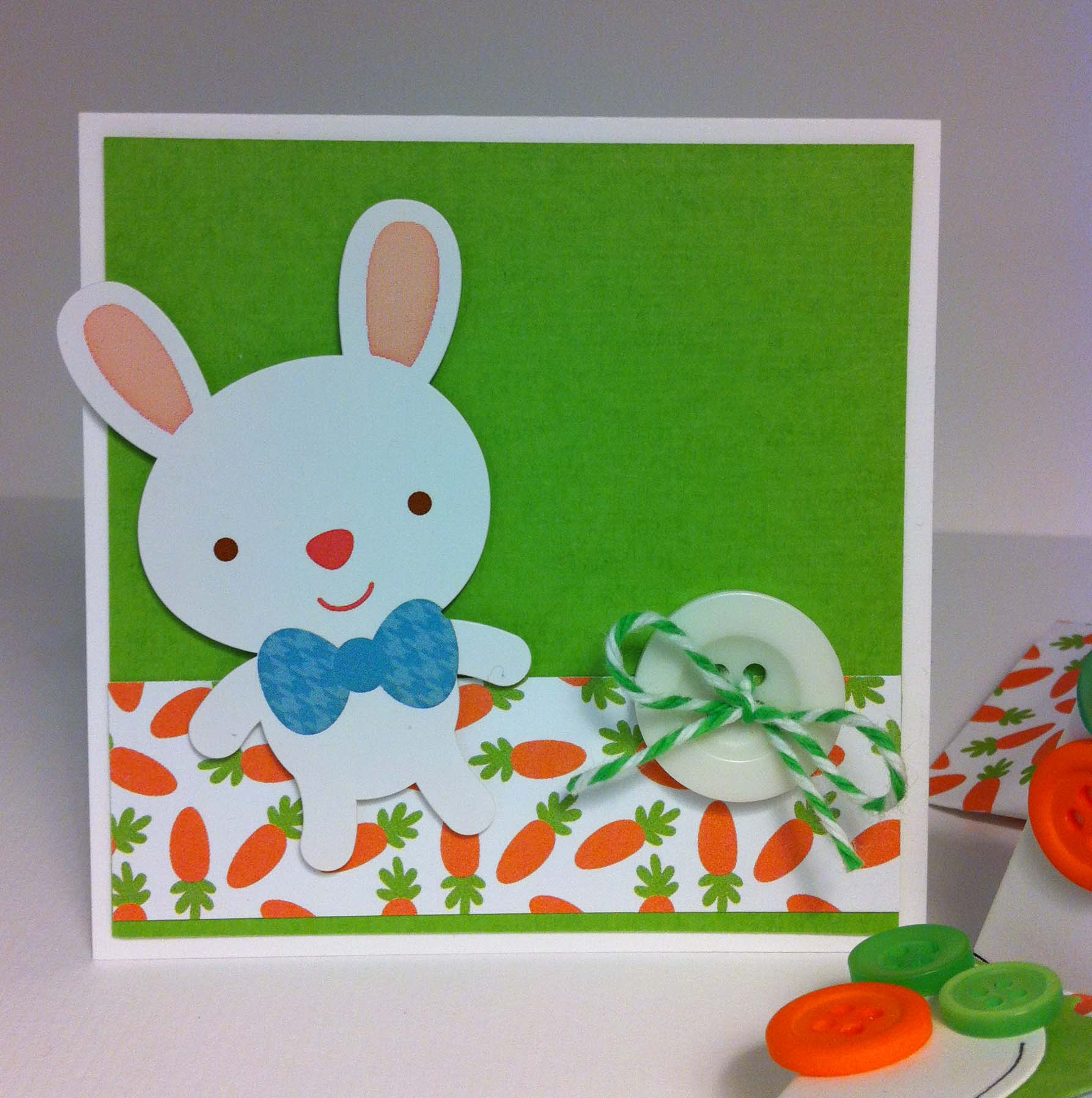 Card Making Ideas For Children Part - 38: BGM Carrot Easter Bunny ...