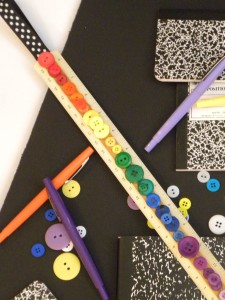 Upcycled Button Ruler