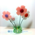 3D Button Flowers