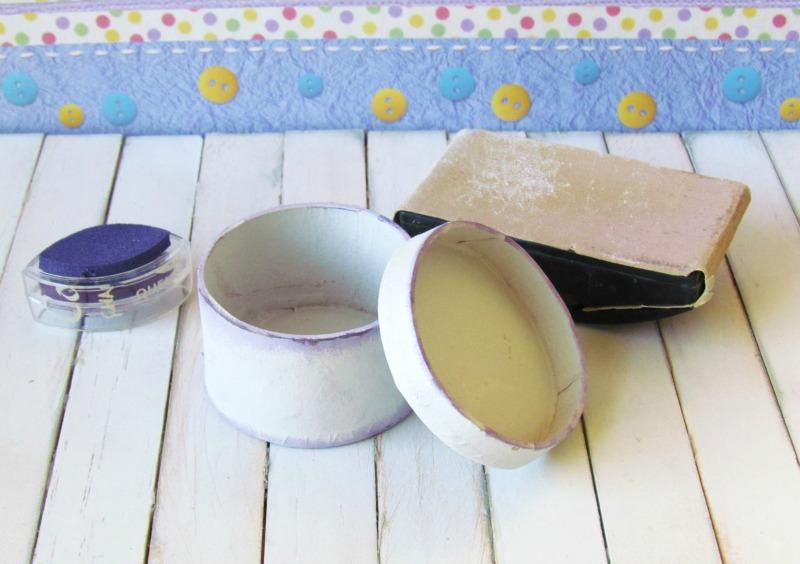 Sand Paper Mache Box