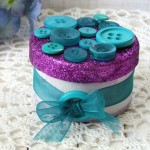 Bridesmaid Gift Box using Buttons & Glitter