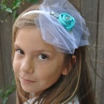 DIY Bridesmaid Headband - Tiffany Blue Wedding