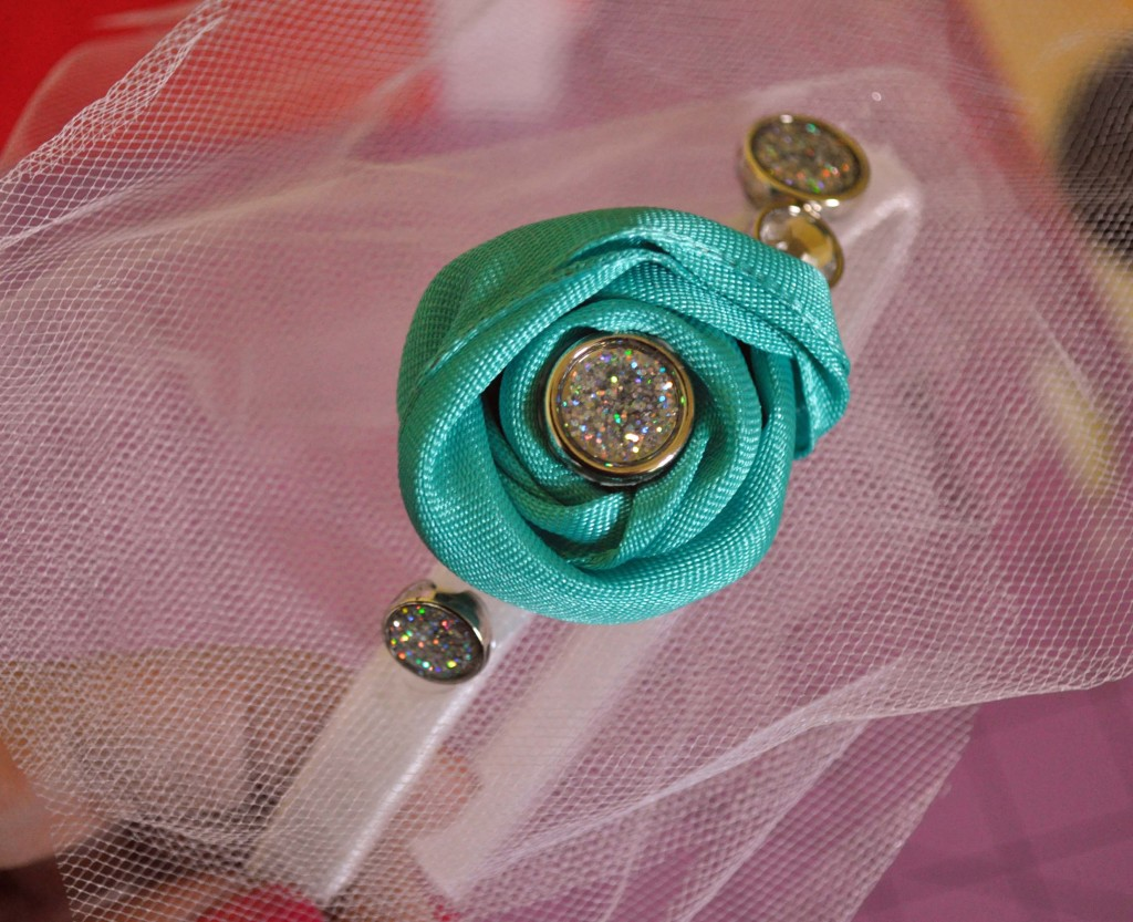 Wedding Headband Glue on buttons and flower