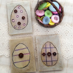 Mini Easter Egg canvas art by Jen Goode