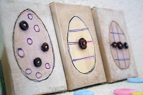 Easter Egg canvas art with buttons