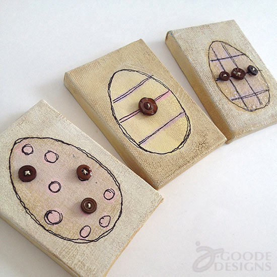 Easter egg button art by Jen Goode