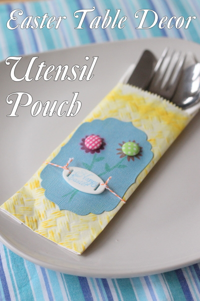 Easter Table Decor Utensil Pouch