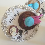 Mixed media shabby chic napkin rings with buttons