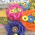 Make an embellished tote with Hand Dyed Buttons