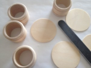 sand wood pieces