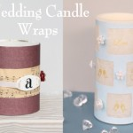 Wedding Decorations – DIY Candle Wraps Two Ways